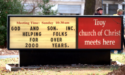 Church sign - father and son_LAH_3100