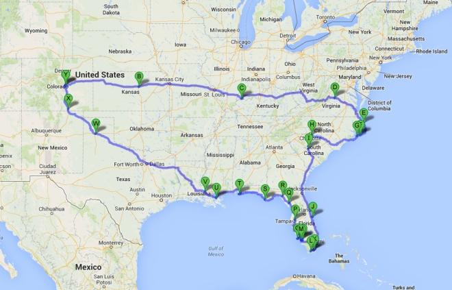 florida trip map