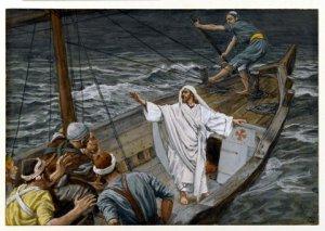 Jesus calming storm