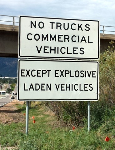 Tidbit Tuesday sign - explosives-001