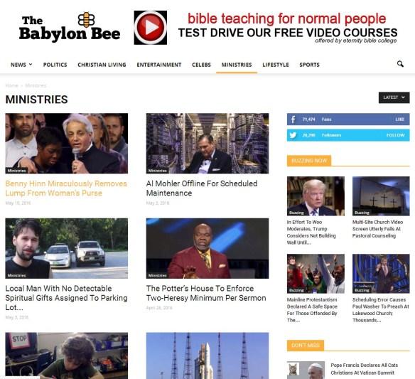 Babylon Bee screen shot