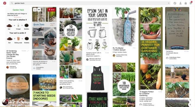 Pinterest garden hacks
