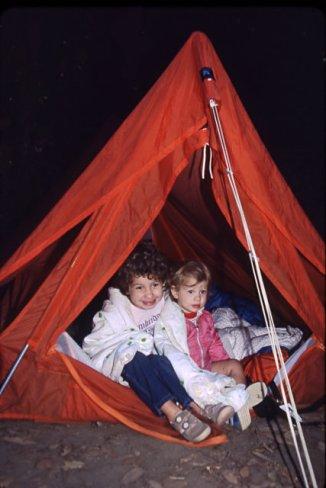 1986-05 Camping @Big Basin tent