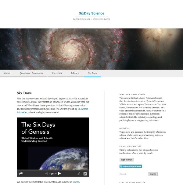 SixDay Science screen grab